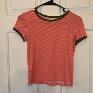 Women's American eagle striped orange shirt